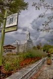 Vista di vecchia chiesa di Saint Sauveur Immagine Stock Libera da Diritti