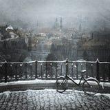 Vista di vecchia città Immagini Stock