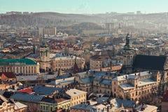 Vista di vecchia città Immagine Stock Libera da Diritti