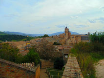 Vista di vecchia città Fotografie Stock Libere da Diritti