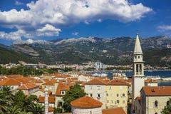 Vista di vecchia città di Budua nel Montenegro fotografia stock