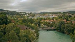 Vista di vecchia città di Berna in Svizzera video d archivio
