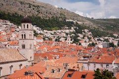 Vista di vecchia città di Ragusa, Croazia Fotografia Stock