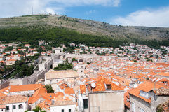 Vista di vecchia città di Ragusa, Croazia Immagini Stock