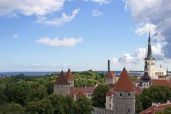 Vista di vecchia città di Tallinn Immagine Stock Libera da Diritti