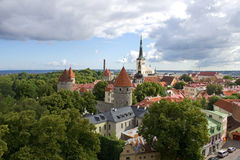 Vista di vecchia città di Tallinn Fotografie Stock Libere da Diritti