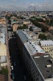 Vista di vecchia città europea da altezza del volo dell'uccello San Pietroburgo, Russia, Europa settentrionale Fotografia Stock Libera da Diritti