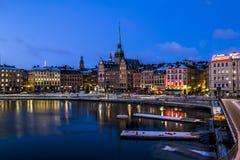 Vista di vecchia città Gamla Stan a Stoccolma sweden Fotografie Stock