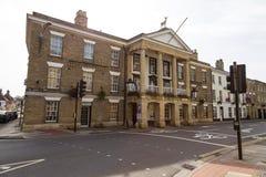Vista di vecchia città di Salisbury, Regno Unito immagini stock