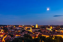 Vista di vecchia città Vilnius fotografie stock libere da diritti