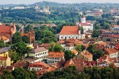 Vista di vecchia città di Vilnius, Lituania Fotografia Stock Libera da Diritti