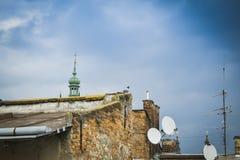 Vista di vecchia Leopoli dal tetto Fotografia Stock Libera da Diritti