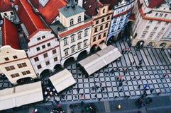 Vista di vecchia piazza a Praga fotografie stock libere da diritti