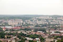 Vista di vecchia piccola città Leopoli Fotografie Stock Libere da Diritti