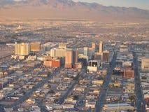 Vista di vecchia striscia di Las Vegas Las Vegas, Nevada, S immagine stock