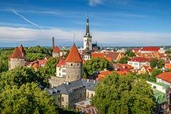 Vista di vecchia Tallinn L'Estonia immagini stock