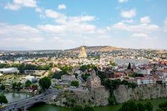 Vista di vecchia Tbilisi Fotografie Stock