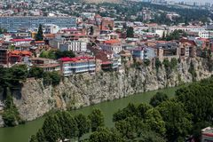 Vista di vecchia Tbilisi Immagini Stock Libere da Diritti