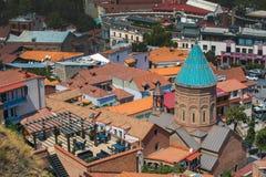Vista di vecchia Tbilisi Fotografia Stock