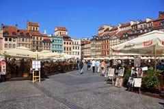 Vista di vecchia Varsavia Immagini Stock