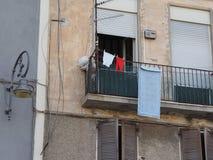 Vista di vecchio centro urbano di Cagliari Fotografia Stock