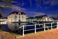 Vista di vecchio centro urbano di Delft Fotografie Stock Libere da Diritti