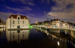 Vista di vecchio centro urbano di Delft Fotografia Stock Libera da Diritti