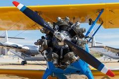 Vista di vecchio motore dell'aeroplano Immagini Stock Libere da Diritti