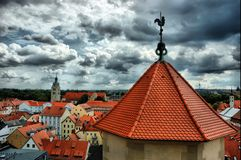 Vista di vecchio Regensburg, Baviera, Germania, imag di HDR Fotografie Stock