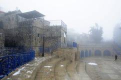 Vista di vecchio Safed fotografie stock libere da diritti