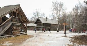 Vista di vecchio villaggio Fotografia Stock Libera da Diritti