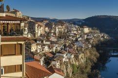 Vista di Veliko Tarnovo in Bulgaria Fotografia Stock Libera da Diritti