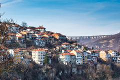 Vista di Veliko Tarnovo, città medievale in Bulgaria Immagine Stock