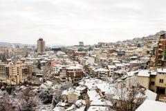 Vista di Veliko Tarnovo da sopra Fotografia Stock