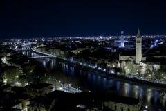 Vista di Verona da Castel San Pietro Fotografia Stock