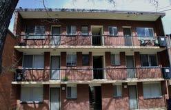 vista di verticale degli appartamenti del blocco richmond Fotografie Stock Libere da Diritti