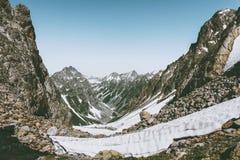 Vista di viaggio del paesaggio della gamma di Rocky Mountains Fotografie Stock