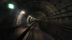 Vista di viaggio del sottopassaggio archivi video
