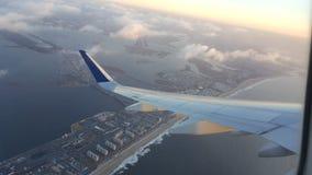 Vista di viaggio dell'aeroplano Fotografie Stock Libere da Diritti