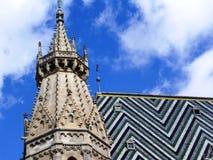 Vista di Vienna con Stephansdom Fotografie Stock