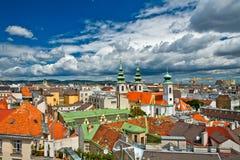 Vista di Vienna dal tetto immagine stock
