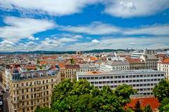 Vista di Vienna dal tetto fotografia stock