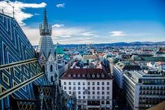 Vista di Vienna dall'osservazione fotografia stock libera da diritti
