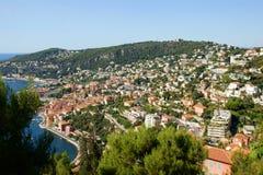 Vista di Villefranche Immagine Stock