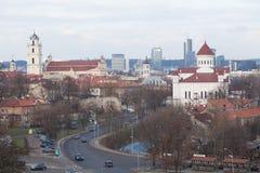 Vista di Vilnius Fotografie Stock Libere da Diritti