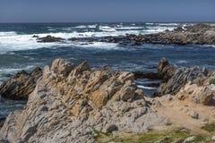 Vista di vista sul mare dell'oceano Pacifico Immagini Stock