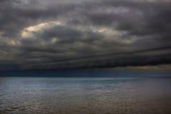 Vista di vista sul mare della tempesta Fotografia Stock Libera da Diritti