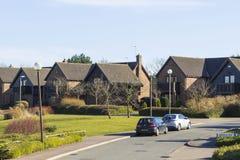 Vista di volano, Milton Keynes in Inghilterra fotografie stock libere da diritti