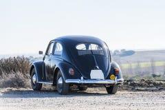 Vista di Volkswagen Beetle dalla parte posteriore fotografia stock libera da diritti