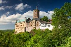 Vista di Wartburg famoso - un sito del patrimonio mondiale fotografie stock